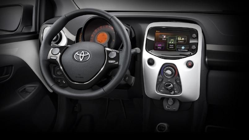 Toyota aygo arnold clark toyota - Toyota aygo interior ...
