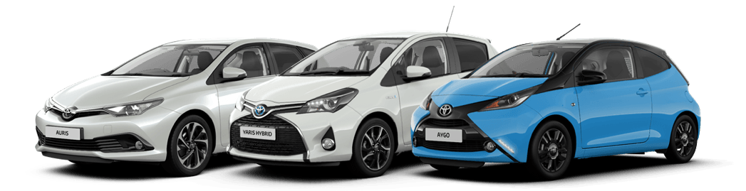 Toyota Aygo, Yaris and Auris