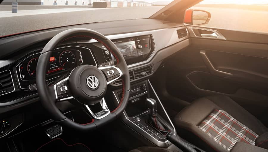 Interior of the new Volkswagen Polo