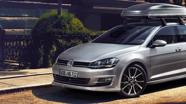 Volkswagen Golf with a roofrack
